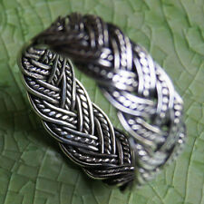 WOVEN  RING SILVER Size.US=10,UK=T