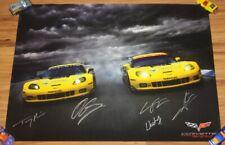 2012 Corvette Racing C6.R ZR1 GT signed IMSA ALMS Poster 5 Drivers