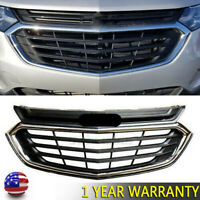 Mesh Chrome Front Bumper Upper Grille Grill For Chevrolet Equinox 2018-2020 2019