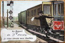 St. Omer, Pas-de-Calais 1912 French Railroad/Locomotive/Train Fantasy Postcard