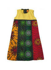 Multicolor A-line dress for girls. Age 2 years to 4 years. Sleeveless