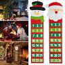 Adventskalender 24 Säckchen zum Selbstbefüllen Weihnachtsmann Schneemann