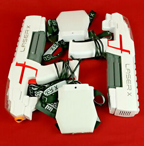 Laser X Tag 2 Blasters and Receivers with Lights and Sounds