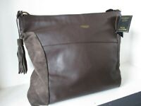 £245 BNWTS OSPREY REBECCA HOBO LEATHER SHOULDER BAG TOTE NAPPA SUEDE
