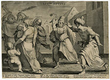 Antique Print-ALLEGORY-DANGERS OF CORRUPTION-Galle-ca. 1600
