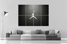MICHAEL JORDAN LOGO BASKETBALL  Wall Art Poster Grand format A0 Large Print