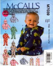 McCalls Sewing Pattern 7039 Baby Jacket, Bodysuits and Pants Nbn-Xlg NEW