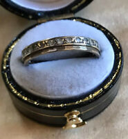 Vintage 9ct Gold And Silver Paste Ring