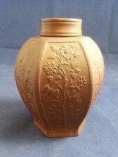 Meissen Bottger Steinzeug Hexagonal Red Stoneware Tea Caddy Porzellan Teedose