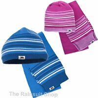 TRESPASS KIDS BOYS OR GIRLS HEDGEHOG  HAT & SCARF SET 2-10 YEARS