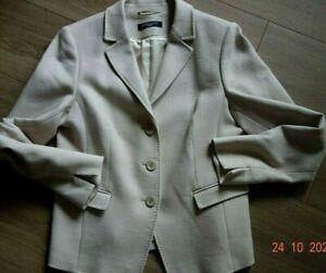 FADENMEISTER BERLIN Blazer klassisch Jacke Creme beige Damen Gr. DE 40 - wie neu