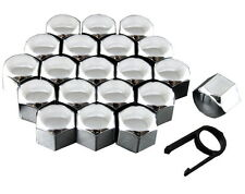 Set 20 17mm Chrome Car Caps Bolts Covers Wheel Nuts For Skoda Superb MK1