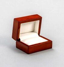Luxury real wood mahogany double wedding ring box Engagement HALF PRICE SALE