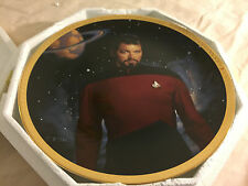 1993 Hamilton Collection Star Trek Com William T Riker Collector Plate Coa
