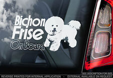 Bichon Frise - Car Window Sticker - Bichon à poil frisé Dog on Board Sign - TYP2