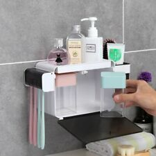 Toothbrush Holder Bathroom Organizer Toothpaste Storage Tooth Brush Dispenser