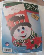 "Poinsettia Snowman, Felt Stocking Kit, 18"""