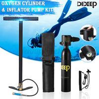 DIDEEP 0.5L Scuba Tank Diving Oxygen Dive Snorkeling Equipment & Inflator Pump