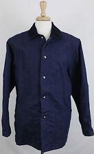 Dickies Men's Jacket Denim Heavy Sz 42 Navy Color Front Pockets Work Wear