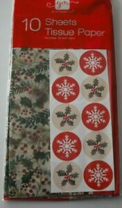 10 SHEETS CHRISTMAS TISSUE PAPER GIFT BOX PRESENT WRAPPING XMAS