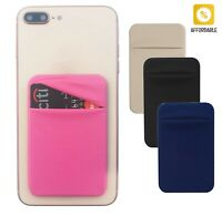 Case Slim Pocket Adhesive Wallet Phone Back Removable Stick-on Mini Pouch Holder