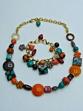 Vintage Murano Glas Collier & Armband ORO VETRO Glass Bracelet & Necklace