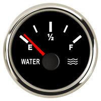 Black Marine Water Level Gauge Boat Water Tank Level Indicator 52mm 0-190ohms