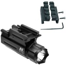 Tactical Flashlight For Smith and Wesson SW9VE SW40VE Sigma Pistol With Adapter