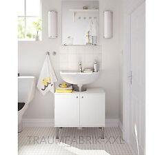 Waschbeckenunterschrank Badschrank Schrank 2 Türen weiss Badezimmer 60x55 cm NEU