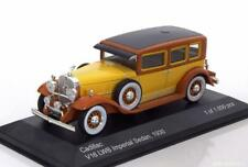 CADILLAC V16 IMPERIAL SEDAN 1930 LWB YELLOW WHITEBOX WB182 1/43 JAUNE GELB