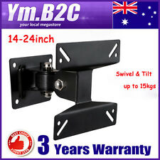 14-24inch Tilt & Swivel LCD LED Plasma TV Monitor Wall Mount Bracket VESA 75/100