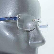 Frameless Blue Electro Tech Low Profile Big City Reading Glasses +1.75