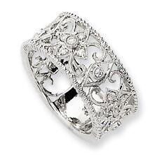 Diamond Ring SALE! .25 Ct. Wedding Band Anniversary Ring Filigree 14K White Gold