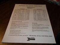 DECEMBER 1993 AMTRAK ICE TRAIN TIMETABLE METROLINER SERVICE