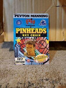 PEYTON MANNING - NEW Pinheads Key Chain First Edition 1999 Colts NFL Quarterback