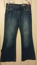 Buffalo Jeans women's size 30 flared med wash mid rise denim jeans size 8/ 10