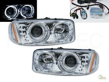 6000K HID Halo Projector Headlights For 99-06 GMC Sierra 00-06 Yukon