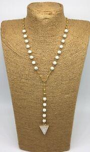 fashion turquoise stone link necklace arrowhead pendant woman gift