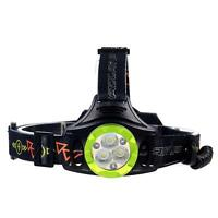 CREE 3X XML T6 LED 60000 LM USB Headlamp 4 Modes Lamp +3 Red Light Headlight UP