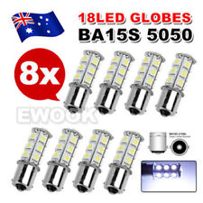8X 1156 BA15S CAR WHITE GLOBE 18 LED BRAKE REVERSE TURN STOP TAIL LIGHT BULB 12V