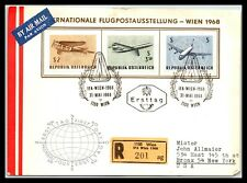 Gp Goldpath: Austria Cover 1968 First Day Issue Cv309_P05