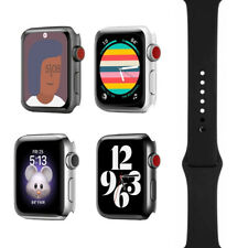Apple Watch Series 3 - 38mm/42mm - All Case Colors - Black Sport Band - GPS/LTE