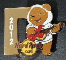 HARD ROCK CAFE MADRID SINGING BEAR 2012 (D) PIN AUTHENTIC RARE LE /250