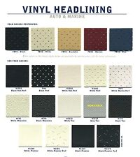 """Auto Headliner Material Perforated Vinyl Foam and non-Foam back.  by yard x 54"""""""