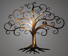 "Love Bird Swirled Tree of Life 24"" tall Metal Wall Art Decor by HGMW"