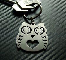 OWL Bird Tawny Barn Hawk Birdwatcing Twitcher Animal Keyring Keychain Key Fob