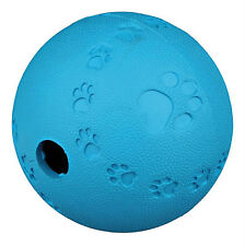 TRIXIE 6 OR 7 CM RUBBER SNACK TREAT BALL DISPENSING  DOG PUPPY TOY ROLLS BOUNCES