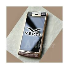SMARTPHONE VERTU SIGNATURE TOUCH ALLIGATOR BROWN 32GB ANDROID LUXURY PHONE-