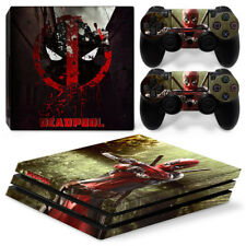 PS4 Pro Protective Skin Stickers Console & 2 Controllers - 0032 - Dead Pool
