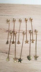 Balance Kerzenhalter 10 Stück Alt Weihnachten Festtage Christbaum Kerzenpendel